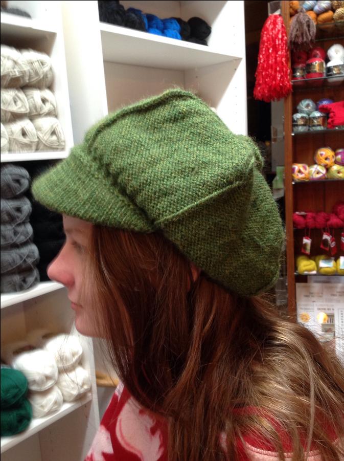 Photo of Green Wool Newsboy Hat