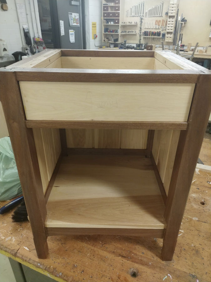 Photo of Hickory and Sapele Nightstand