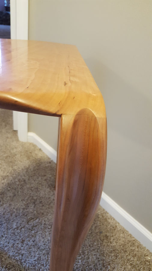 Photo of Half Circle Waterfall Accent Table