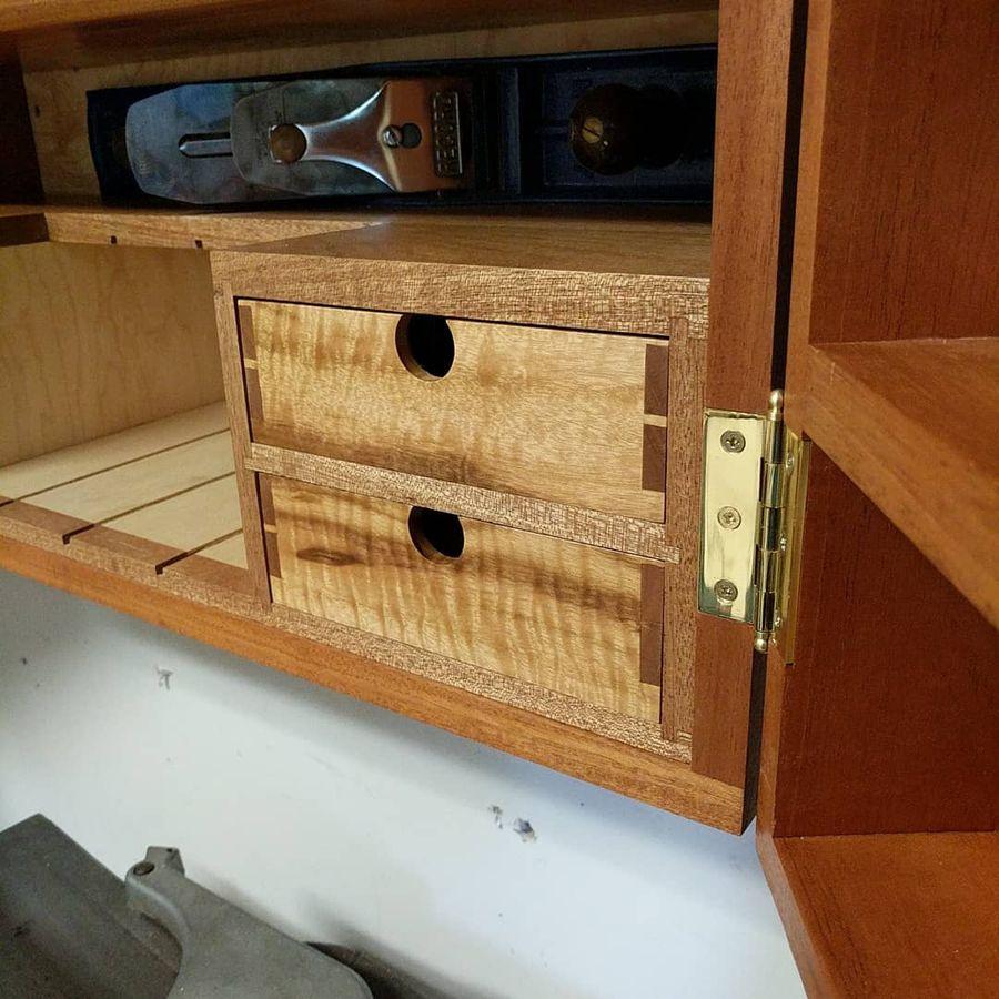Photo of Mahogany Hand Tool Cabinet