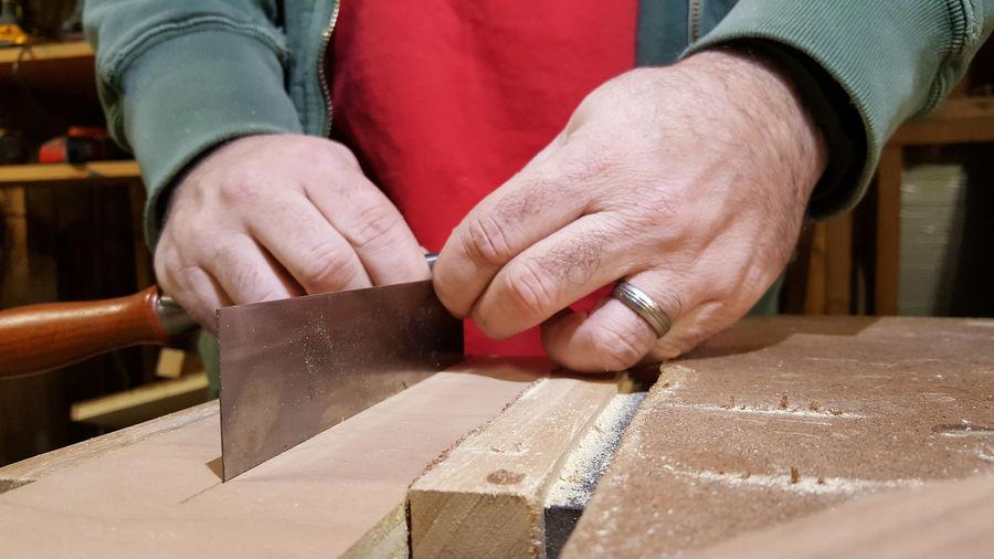 Photo of Scraper Sharpening