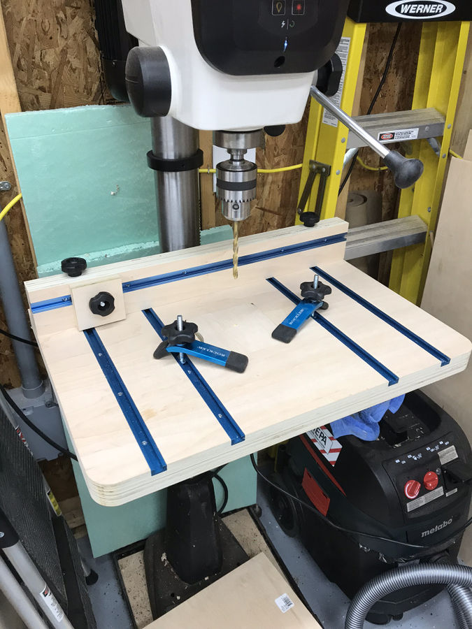 Photo of Drill press table