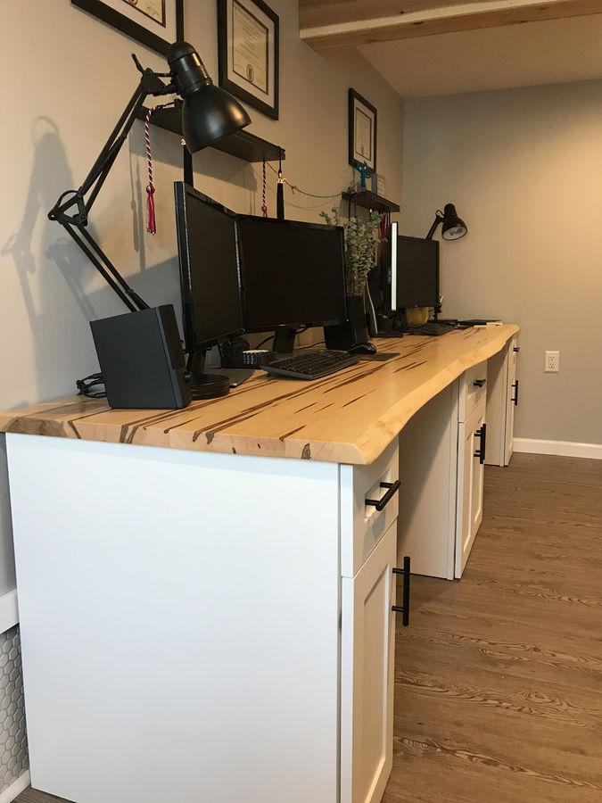 Photo of 10' Ambrosia Maple Live Edge Dual Desk