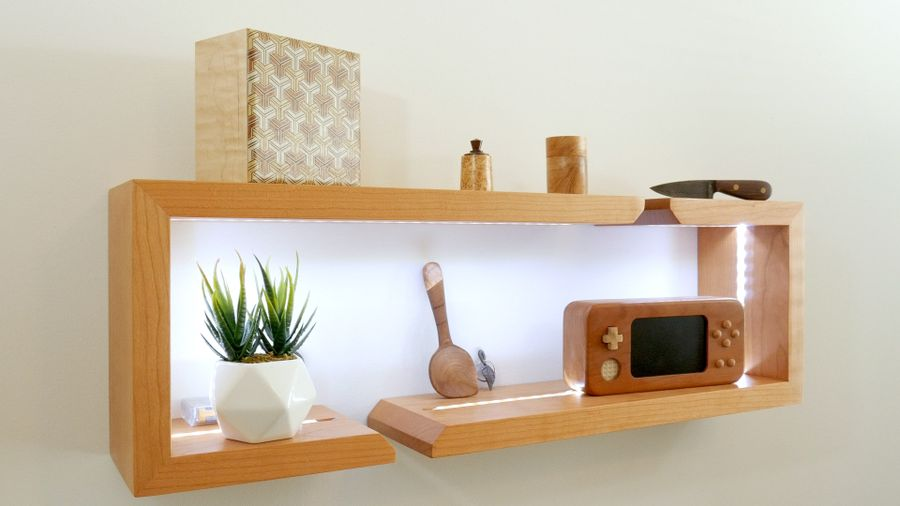 Photo of Diy Floating Shelves With Leds