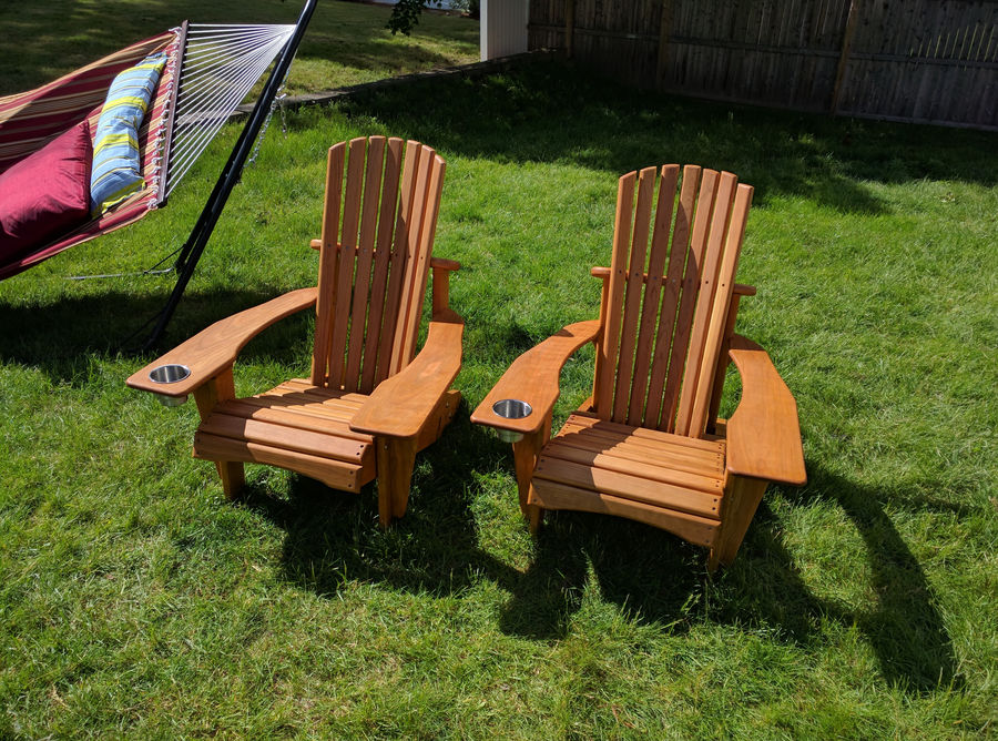 I Just Got Into Woodworking And For My Very First Project I Decided I  Wanted To Make Adirondack Chairs For My Grandparents. Here Are The Finished  Chairs, ...