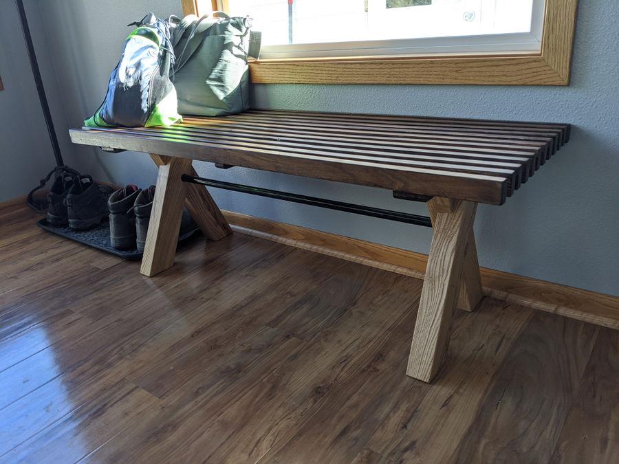 Photo of Slat top bench