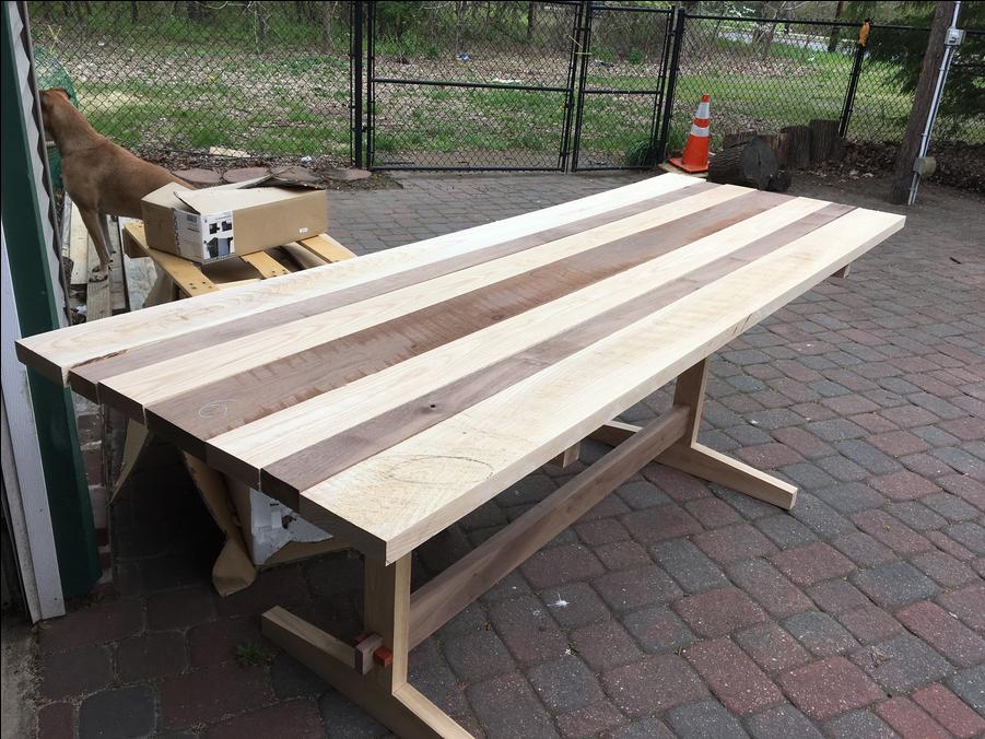 Photo of Walnut & Ash Trestle Table