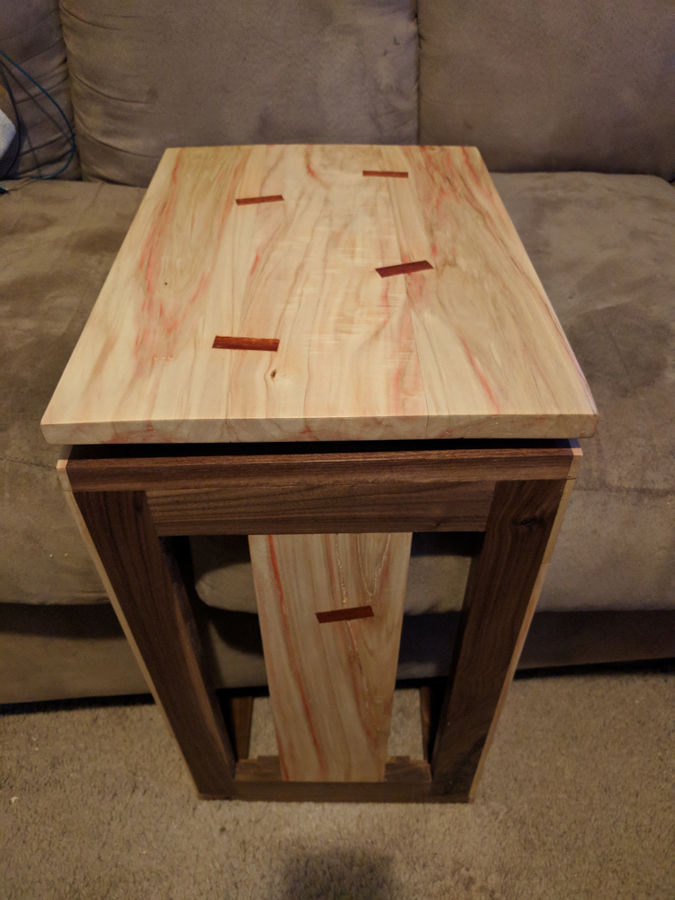 Photo of Boxelder Maple, Walnut & Bloodwood C Table