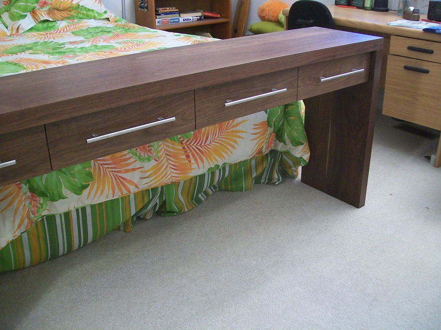Photo of 4 Drawer Console Table In Walnut