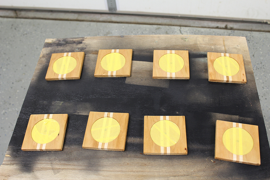 Photo of Cherry And Maple Wooden Coasters