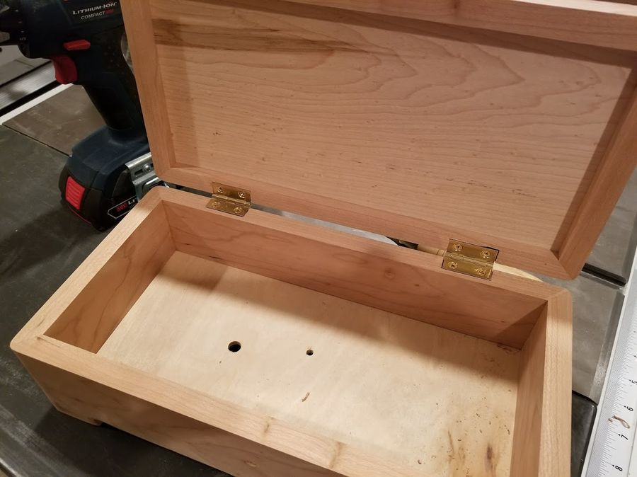 Photo of Music/Jewelry Box With Sankyo 50 Note Movement In Cherry