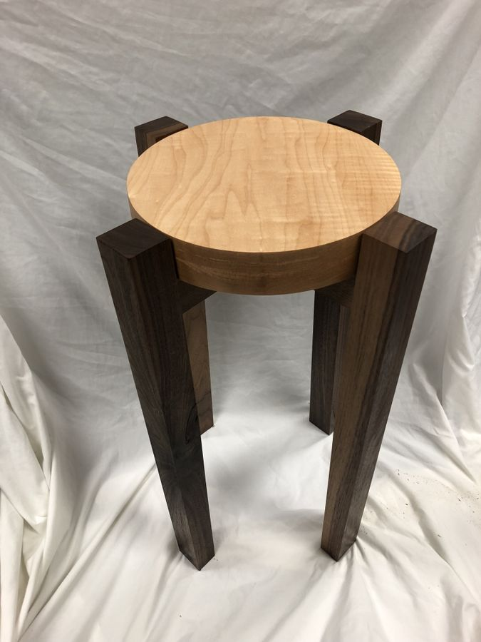 Photo of Walnut And Curly Maple End Table