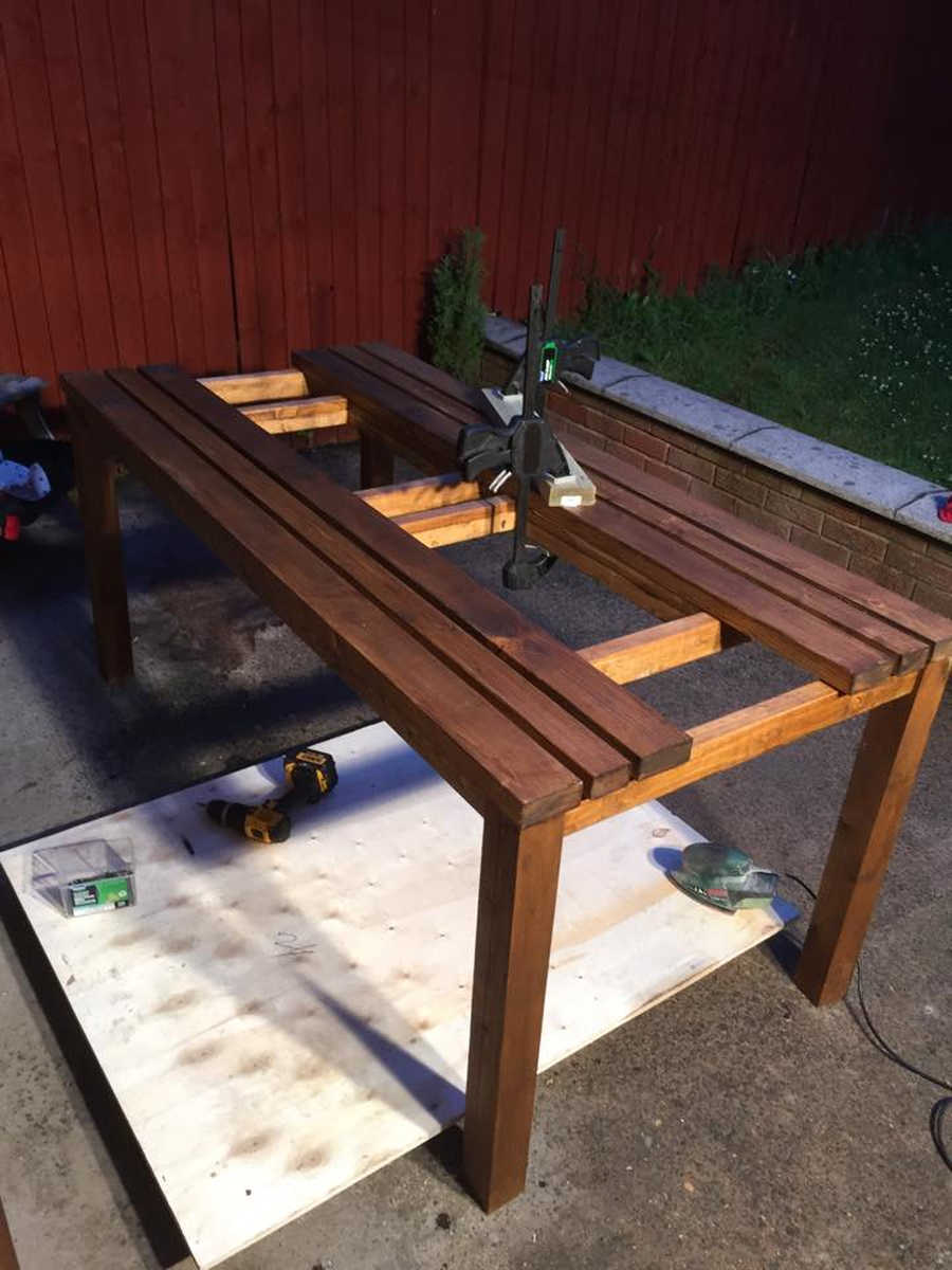 Photo of 6ft Solid Pine Garden Table