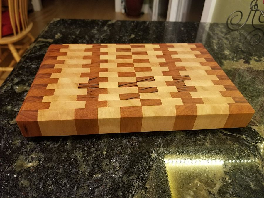 Photo of End Grain Maple And Tigerwood Cutting Board -Question Inside
