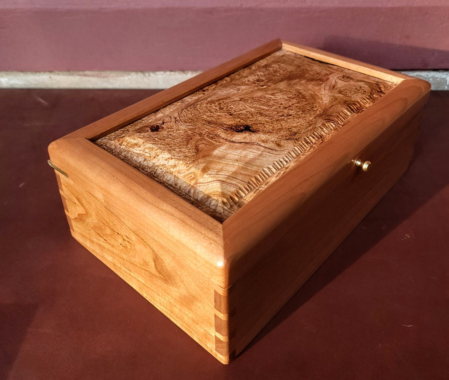 Photo of Dovetailed Tea Box in cherry
