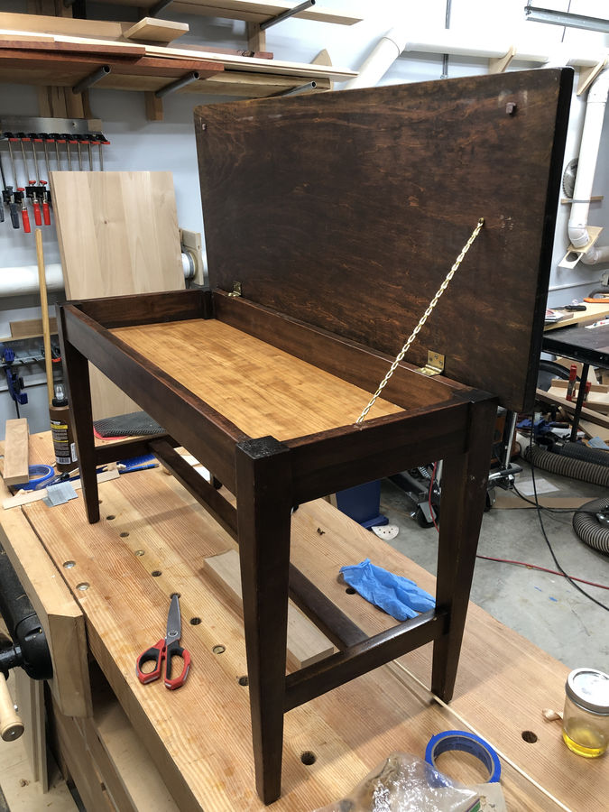 Photo of Piano Bench Restoration
