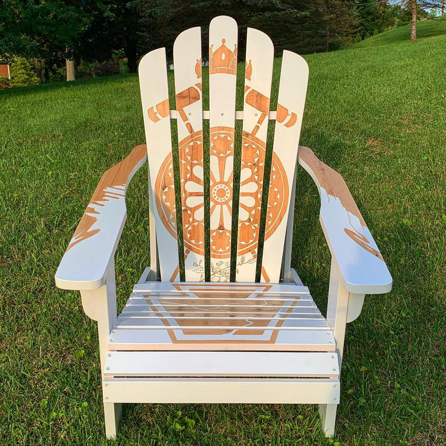 Photo of Local tribute Adirondack chair