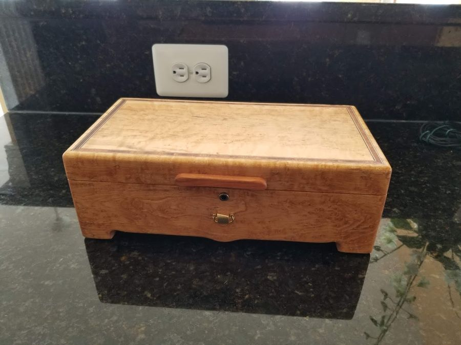 Photo of Jewelry/Music Box With 36 Note Reuge Movement In Maple