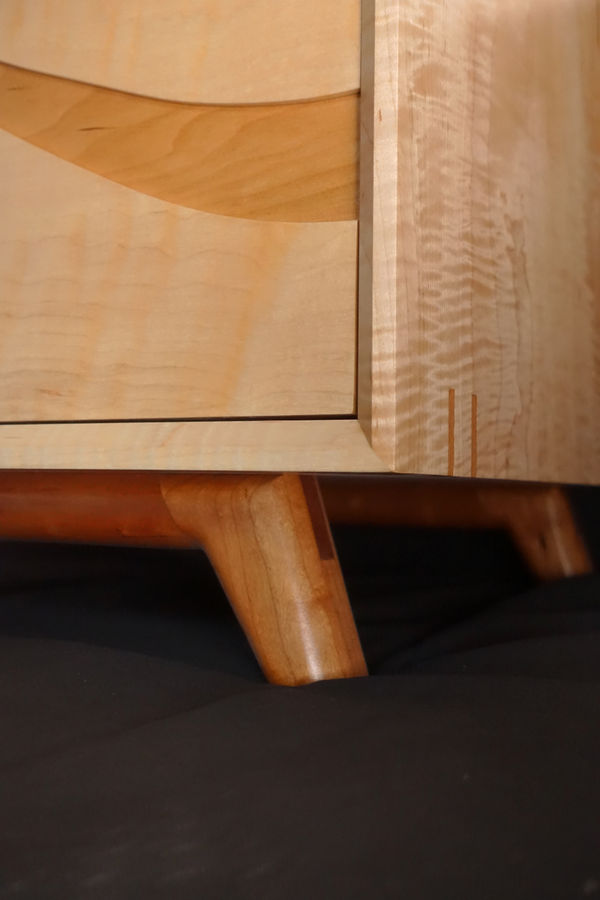 Photo of Bow Front Modern Desk