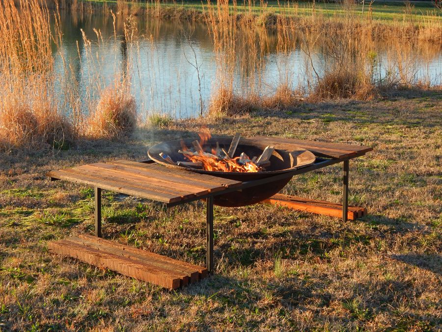 Photo of Antique Syrup Kettle Fire Pit
