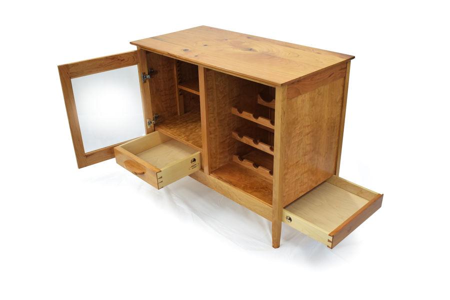 Photo of Cherry Liquor Cabinet