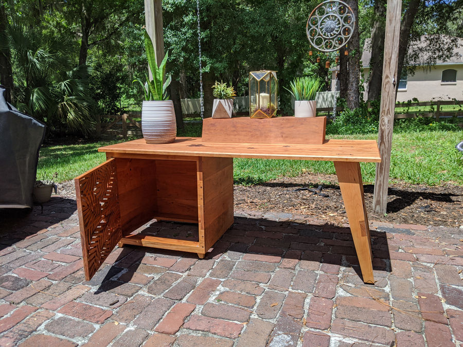 Photo of Cherry bench/beer fridge cabinet/ plant stand