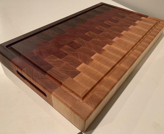Ombré end grain cutting board