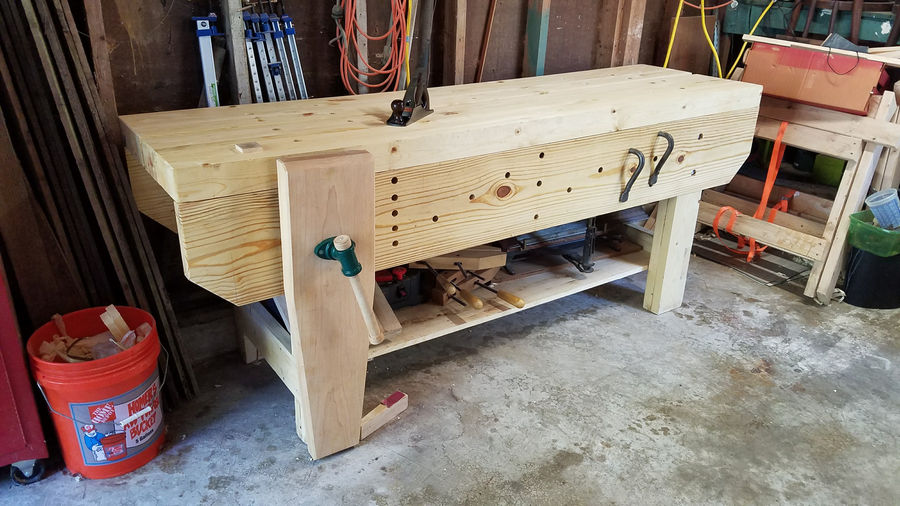 Amazing Affordable Workbench Hybrid Of French And English Styles - By Dallas @ LumberJocks.com ...