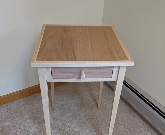 Yellow Birch & Oak End Table
