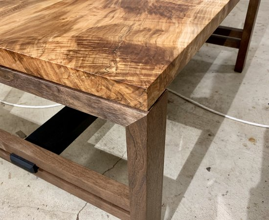 Modern Maple and Walnut Coffee Table
