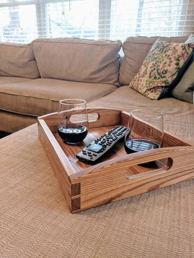 Photo of Chestnut Couch Tray
