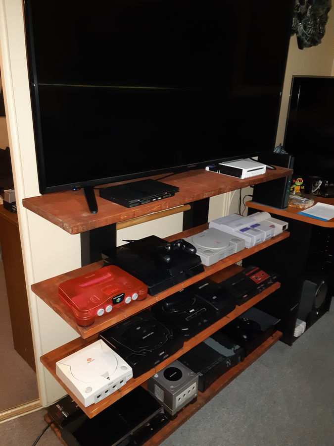 Photo of  gaming display shelf for old electronic games
