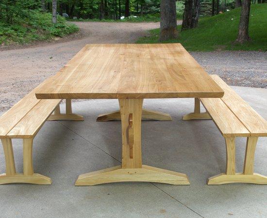 Elm Trestle Table