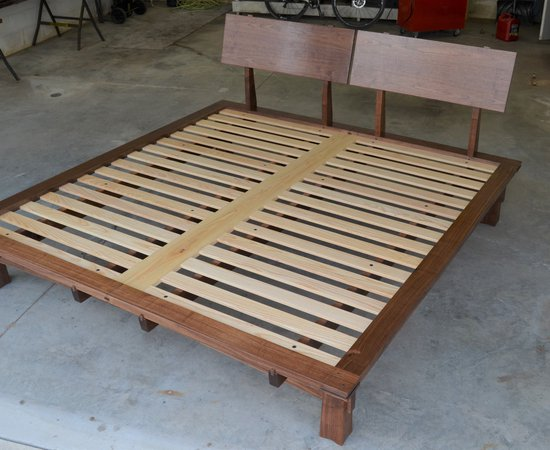 2020 Arched Walnut Bed
