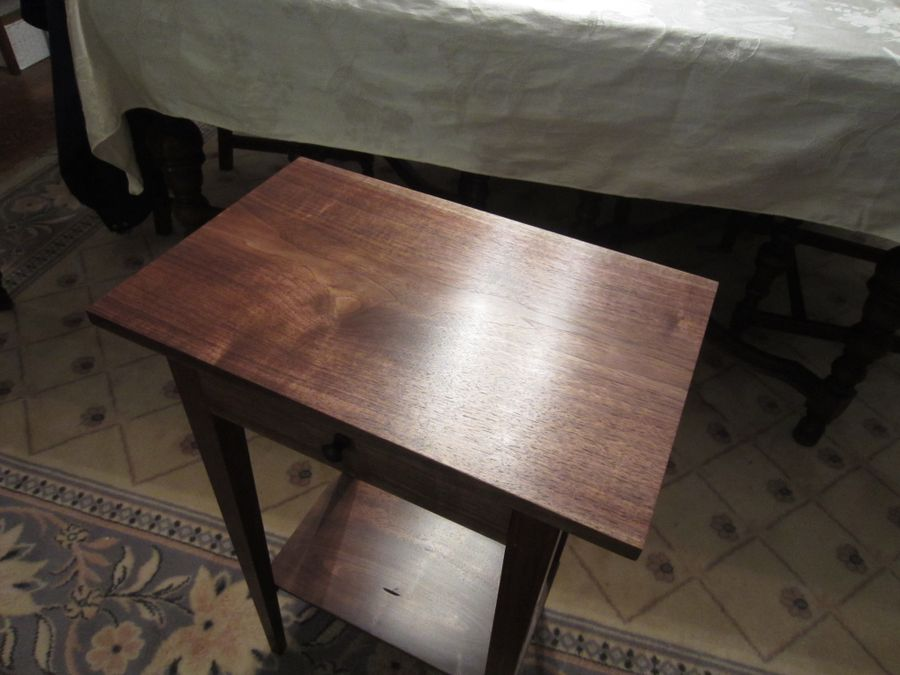 Photo of Small Walnut Side Table
