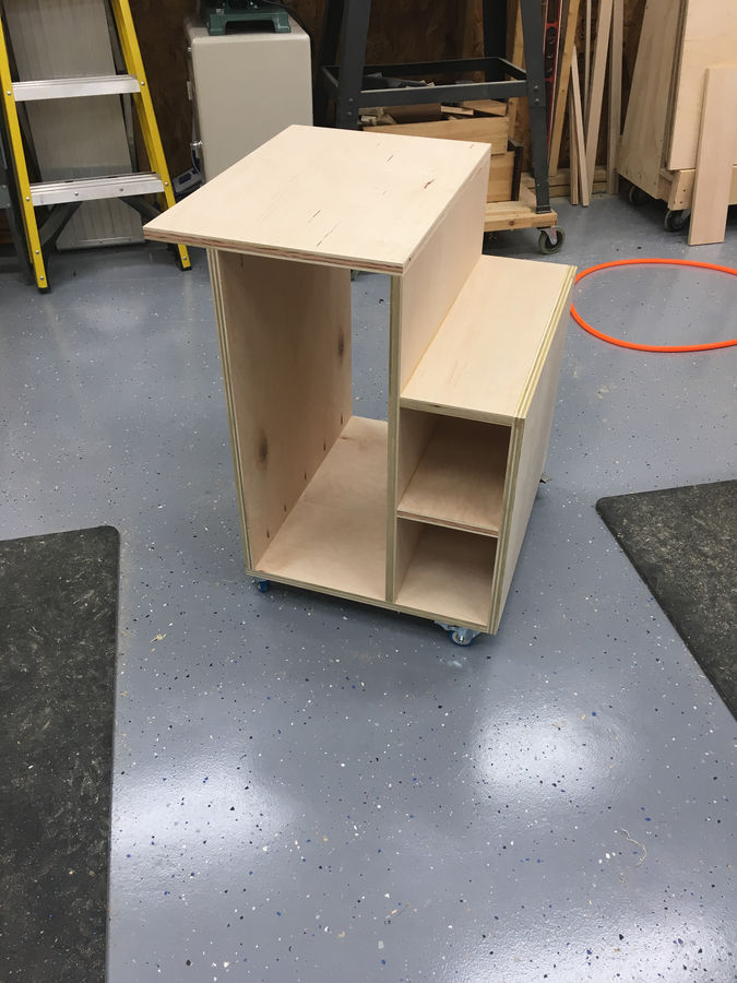 Photo of Table saw Storage Cabinet.