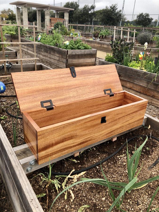 Photo of African Mahogany Garden Tool Box