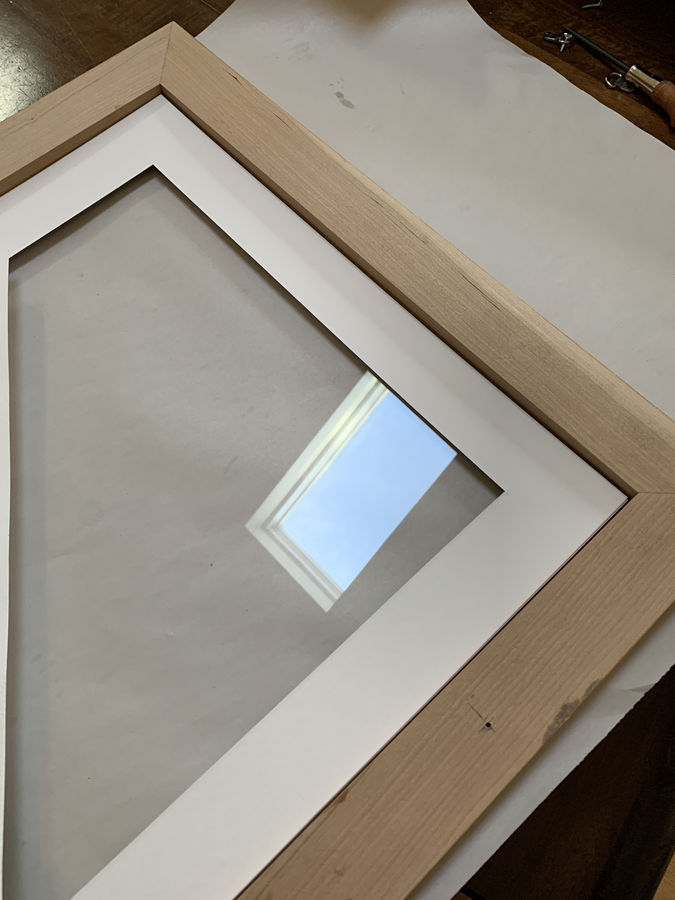 "Photo of ""Blue Sky"" Picture Frame in Cherry"
