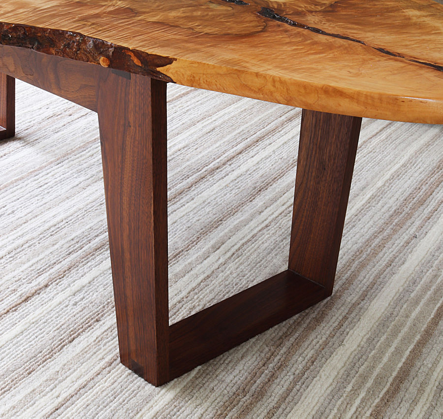 Photo of Silver Maple And Walnut Live Edge Coffee Table