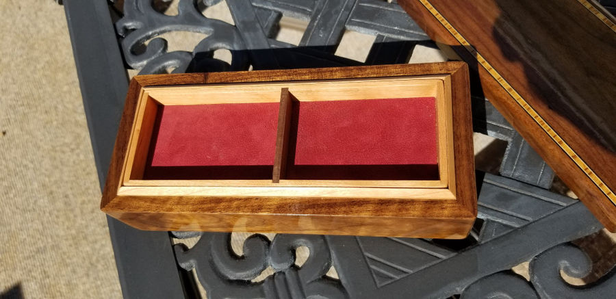 Photo of Walnut Box With Cherry Inserts
