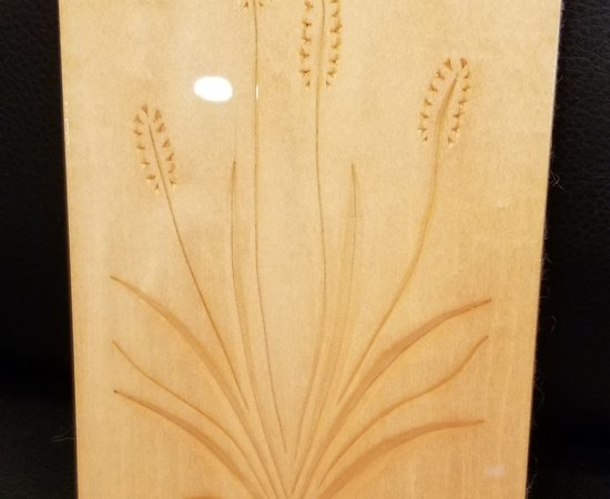 Wayne Barton Inspired Chip Carving Cattail