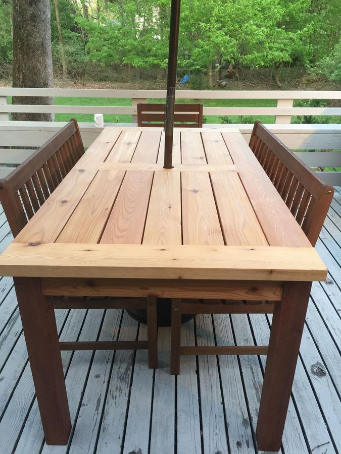 Cedar Patio Table Designerstyle